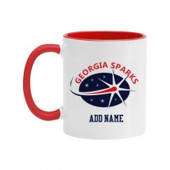 Georgia Sparks 11OZ TWO TONE CERAMIC COFFEE MUG