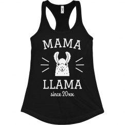 Mama Llama Since Custom Year Funny Mom Tank