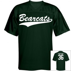 Bearcats custom name and number sports jersey