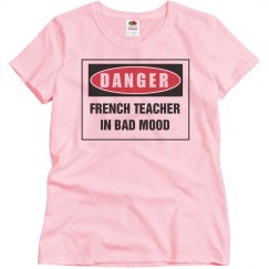 Teacher in bad mood