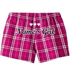 Custom Name's Girl Valentine Hearts