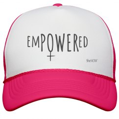 SheNOW #EMPOWERED - neon hat