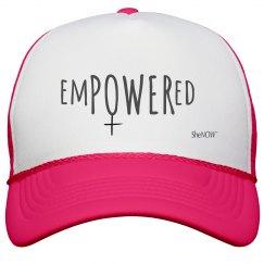 SheNOW #EMPOWERED - neon hat