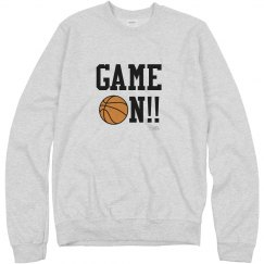 Basketball Game On Sweatshirt ash