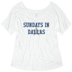 Sundays in Dallas flowy