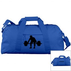 Big Blue Workout Duffle Bag