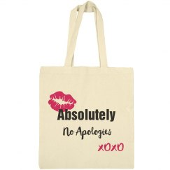 Absolutely No Apologies Hot Pink Lips Tote Bag