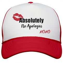 Absolutely No Apologies Red Lips Trucker Cap