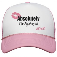 Absolutely No Apologies Pink Lips Trucker Cap