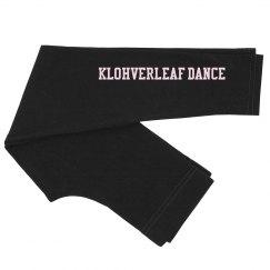 Little girls black dance pants