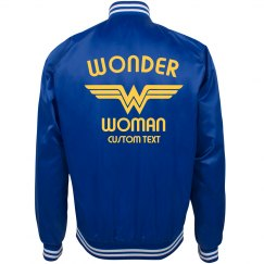 Customizable Wonder Woman Bomber Jacket