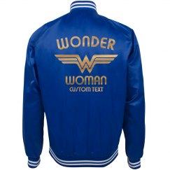 Customizable Wonder Woman Bomber Jacket