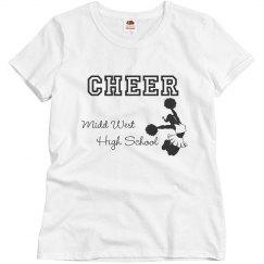 school name cheer shirt