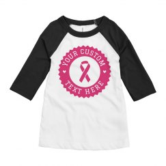 Custom Breast Cancer Charity Youth Raglan