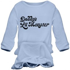 Daddy's Little Moster Infant Gown