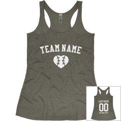 Baseball WifeGirlfriend Summer Tank Team Name Team Colors Customized Baseball Season Baseball Shirt Next Level Racerback Tank