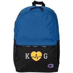 Custom Initials Nursing Backpack