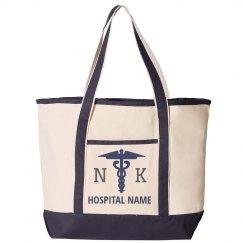 Custom Initials Hospital Tote