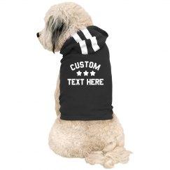 Starred Custom Text Dog Hoodie