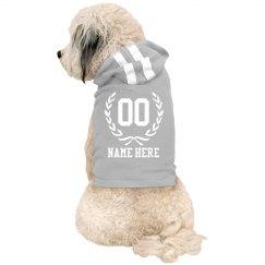 Sports Name & Number Dog Hoodie