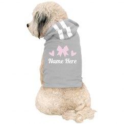 Custom Name Cheer Bow Pet Hoodie