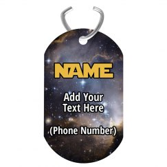Galaxy Custom Pet Tag