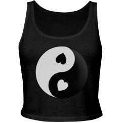 Yin Yang Love Hearts Top