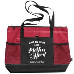 Ain't No Hood Like Motherhood Custom Zippered Tote