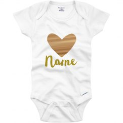 Custom Name Metallic Valentine Baby