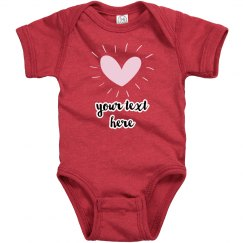 Customize Your Own Heart Baby Bodysuit
