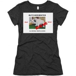 Butcher Bites BEX Hand Rolled Super Soft Women's T