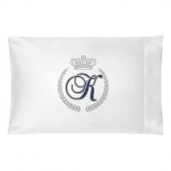 Initial Pillow Case