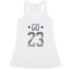 Baseball Mom Metallic Custom Number