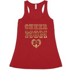 Cheer Mom Metallic Gold Print