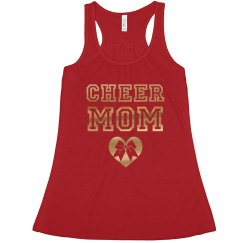Cheer Mom Metallic Gold Print