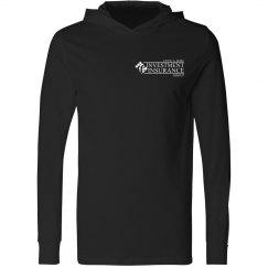CAR Unisex Long Sleeve Jersey Hooded Tee BLACK