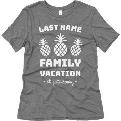 Custom Family Vacation Cute Pineapple Tees