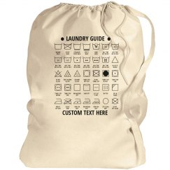 Customizable Laundry Guide Bag