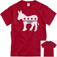 Red tee w/presidential candidate graphic