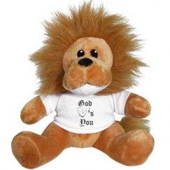 God Love's You Stuffed Lion