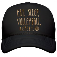 Gold Shiny Volleyball Repeat