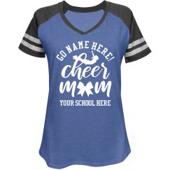 Trendy Script Custom Name Cheer Mom