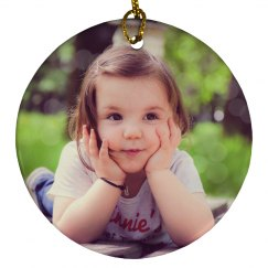 Custom Photo Ornament Gift