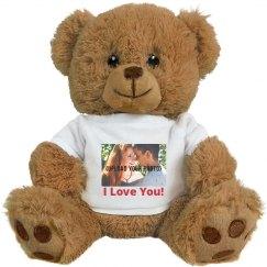 Cute Custom Photo Valentineu0027s Bear Gift