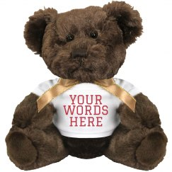 Custom Valentine's Cuddly Bear