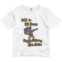 White Youth (Mrs. Shelia) Birthday Shirt