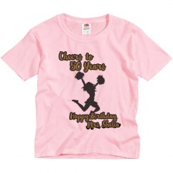 Pink Youth Cheer (Mrs. Shelia) Birthday Shirt