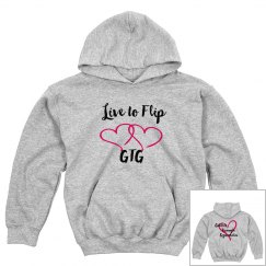 """Youth """"live to flip"""" hoodie"""