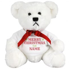 Custom Name Merry Christmas Bear