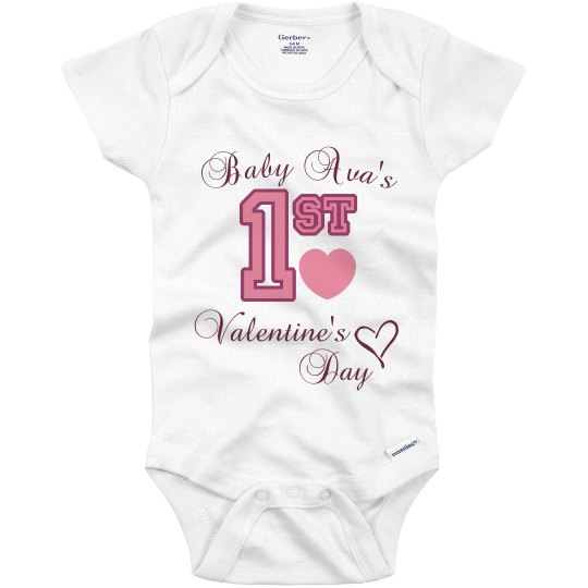 First Valentine S Day Infant Onesies
